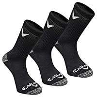 Callaway Golf Mens Sport Crew 3 Pack Socks - Black - One Size