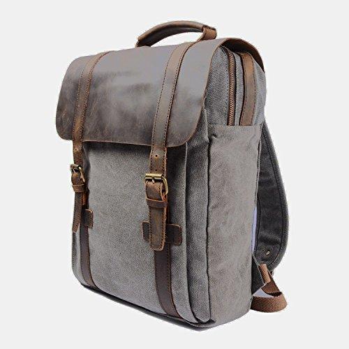 Imagen de y double  tipo casual /  vintage de lona y cuero / bolso casual para viajes / bolsa de escuela / unisex  de a diario / portátil bolsa  adecuada para 15' cuaderno alternativa