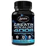 Creatin 4000 – 320 Tabletten – 40 Tage Anwendung – 4000mg Tagesdosierung – Creatin Alkaline + Vitamin B6 – Unterstützung Muskelaufbau + Kraft - 4