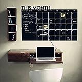 Vovotrade Plan Mois 60x92 Calendrier Chalkboard Blackboard vinyle autocollant de mur...