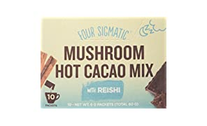 Four Sigma Foods Mushroom Hot Cacao Mix with Reishi Herbal Tea