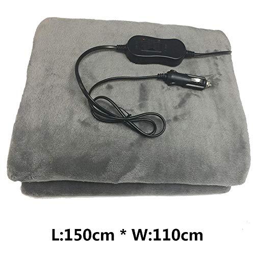 Coseyil Auto Heizdecke,12V elektrische Heizdecke beheizbare Decke, Weiche Wolle Vlies Wärmedecke 150 x 110 cm für alle Autos LKW -