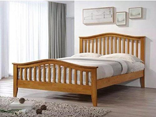 4FT6 DOUBLE SANDRINGHAM OAK WOODEN BED FRAME