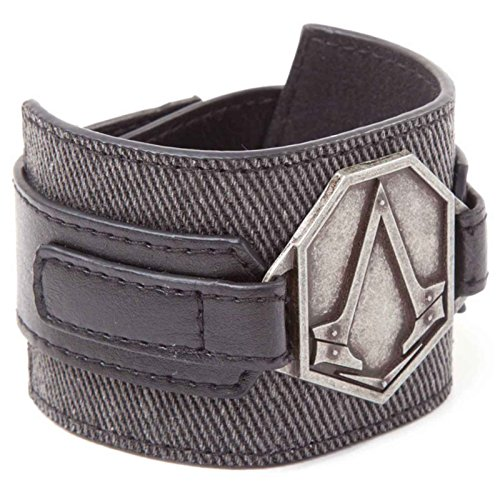 Assassins Creed Wristband Syndicate Metal Patch logo Official PS4 Xbox Grey One Size