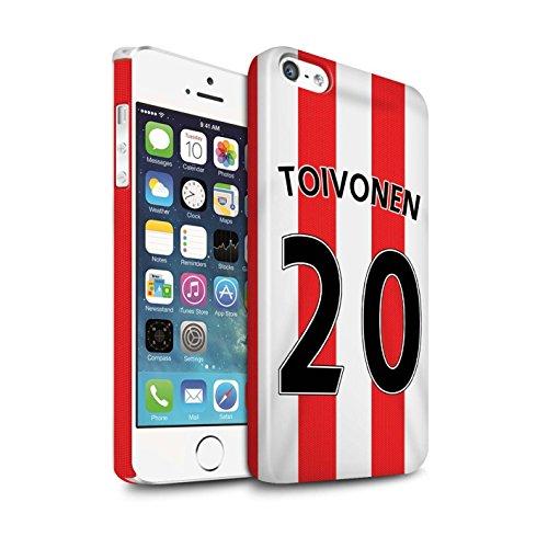 Offiziell Sunderland AFC Hülle / Glanz Snap-On Case für Apple iPhone 5/5S / Pack 24pcs Muster / SAFC Trikot Home 15/16 Kollektion Toivonen