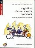 Telecharger Livres La Gestion des Ressources humaines dans les Organisations publiques Parametres (PDF,EPUB,MOBI) gratuits en Francaise