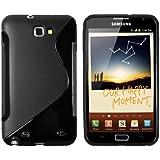 mumbi TPU Silikon Schutzhülle für Samsung Galaxy Note N7000 schwarz