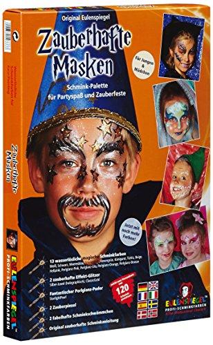 Eulenspiegel 103333 Zauberhafte Masken Schminkset, 1 Stück, 29,4 x 22,4 x 3,6 - Kreative Karton Kostüm