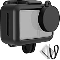 first2savvv Frame Mount Protective Case Housing Set Compatible with Dji Osmo Action with Tripod Mount, Lens Cap