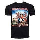 Camiseta Oficial Iron Maiden Trooper (Negro)