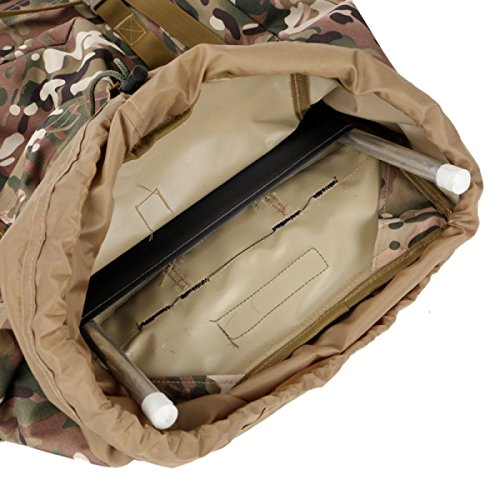 Männliche Und Weibliche Camouflage Große Kapazität 80L Multifunktions Outdoor Sport Klettern Rucksack,ArmyGreen DesertCamouflage
