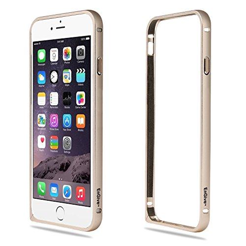 EnGive Ultra Slim Aluminium iPhone 6 Bumper (4.7 Zoll) Rahmen Metall Hülle Cover (iPhone 6 (4.7 Zoll), schwarz) Gold