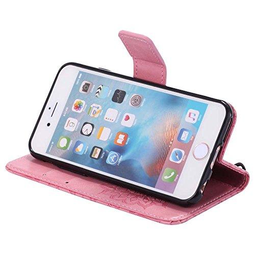 Custodia iPhone 6 / 6S, cmdkd Wallet Custodia Bumper per iPhone 6 / 6S. (Porpora) Pink