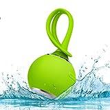 EJIKER Mini Bluetooth Lautsprecher Wasserdicht Tragbarer Dusche Lautsprecher Wireless Lautsprecher Bluetooths 4.2 Duschlautsprecher IP45 für Unterwegs iPhone iPad Samsung Smartphone, Grün