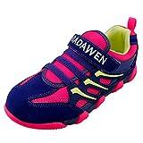 DADAWEN Girls' Boys' Casual Mesh Sneakers Outdoor Running Shoes-Pink UK 1