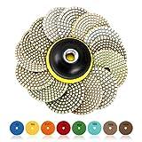 Set di tamponi per lucidatura Wet diamantati SPTA 15pcs, pastiglie da 4 pollici per grinder o lucidatore per pavimenti in marmo di granito