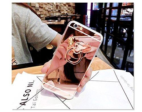 JAWSEU Coque pour iPhone SE en Silicone Glitter,iPhone 5S Etui de Protection Souple Coque,Luxe Simple Classique Désign Placage Black Noir Sparkles pour Femme Homme,Ultra Mince Thin Doux Coquille Soft  Rose Or*ous