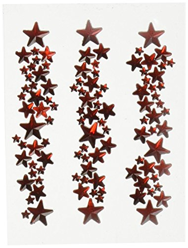 Mark Richards Star Crystal Stickers Clusters, Red, by MARK RICHARDS (Mark Sticker Crystal)