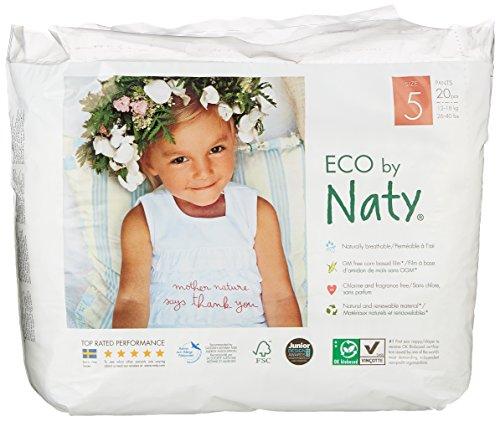 Naty by Nature Babycare Öko Höschen-Windeln - Größe 5 (12-18 Kg), 4er Pack (4 x 20 Stück)
