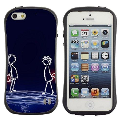 Graphic4You Red Heart Raindrops Design Harte Hülle Case Tasche Schutzhülle für Apple iPhone SE / 5 / 5S Design #18