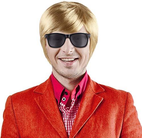 Balinco Set aus Schlagerstar Heino Perücke blond + Sonnenbrille schwarz -