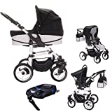 Bebebi Paris | 4 in 1 Kinderwagen Komplettset | ISOFIX Basis &...
