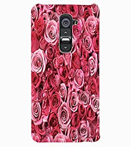 ColourCraft Beautiful Roses Design Back Case Cover for LG G2