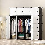PREMAG Armari de armario portátil DIY, organizador de almacenamiento modular, ropero para ahorrar...