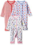 #9: Mothercare Baby Girls' Sleepsuit (Pack of 3) (H7020-1-multicoloured_0-3 M)