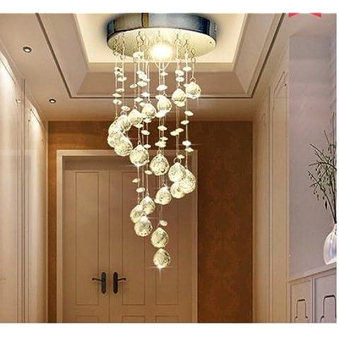 CLG-FLY a forma di spirale lampadari di cristallo cristallo LED