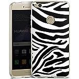 Huawei P8 Lite 2017 Hülle Silikon Case Schutz Cover Zebra Animal dschungel