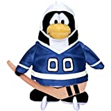 Disneys Club Penguin Series 11 Blue Hockey Player with Online Unlock Code 6 inch Plush by Club Penguin