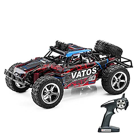 (Upgraded)Vatos RC Car Off Road Remote Control Car 1:12 4x4 4WD High Speed 40km/h Electric Buggy 2.4GHz Radio Controlled 50M Car Racing Monster Truck Rock Crawler Desert Hobby Vehicle Toy with LED