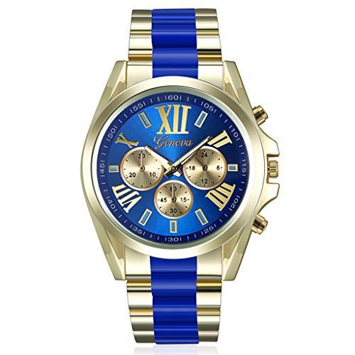 REALIKE Herrenuhr Armbanduhren Römische Ziffern Round Römische Ziffern Mesh-Gürtel Quarzuhr Uhren Kreative Uhr Europa Ultradünn Britische Artart und Weise Neue High End Geschäftsuhr Business (Saphirglas Rolex)