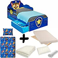 BEBEGAVROCHE Complete Bed Pat Patrol Design = + MATTRESS & Bedding Set Duvet + Pillow +