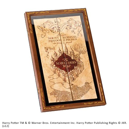 Noble Collection The Marauder Map Display Case