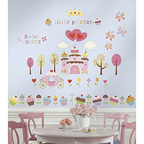 Jomoval Room Mates Stickers muraux repositionnables Château cupcake