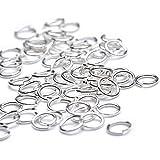 Beads Unlimited - Aros para bisutería (5 mm, 100 unidades, pequeños, chapados en plata)
