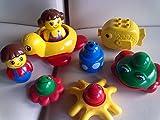 LEGO 2048 - Primo Baby - Badespaß 9 Teile mit Boot / Flooß, Schildkröte, Wasserspritz-Frosch