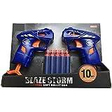 Toyzrin Foam Blaster Gun Toy With 10 Bullets ,Multi Color 7110…