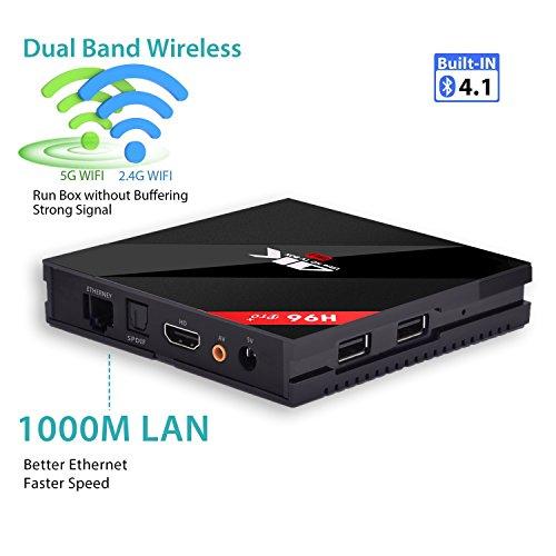Newest Android 7 1 3G 32G  Linstar Android 4K TV BOX 3GB Ram 32GB Rom Plus Amlogic Octa Core 64 Bit 2 4G 5G Dual-Band Wifi 1000M LAN 1080P H 265 Smart 4K Full HD Set Top TV BOX  H96 Pro  3G 32G