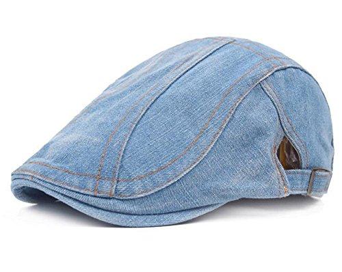 Drawihi Peaked Beret Cap Denim Retro Casual Hat atmungsaktiv bequem waschbar...