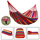 DE Choice Portable Double Size Pure Cotton Rope Hanging Hammock Swing - Camping Cotton Bed