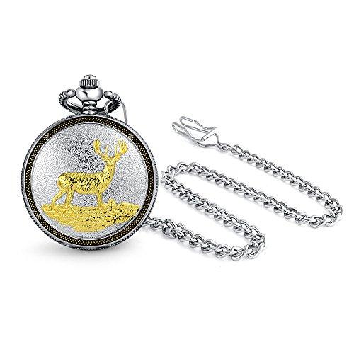 bling-jewelry-deux-tonalites-deer-mens-pocket-watch-parties-argentees-de-terminer-le-quartz-plaque-o