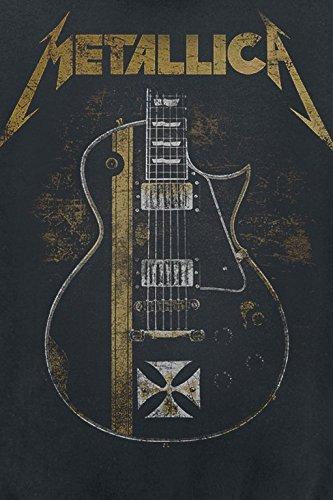 Metallica Hetfield Iron Cross Guitar Kapuzenjacke schwarz Schwarz