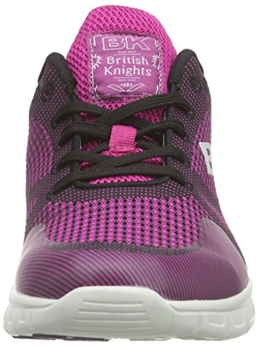British Knights Energy, Baskets Basses femme Rose - Pink (Fuchsia-Black 13)