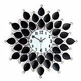 KHSKX Exklusive Schmiedeeiserne Wanduhr creative Wohnzimmer Wanduhr Uhren nie verblassen Strass Uhren