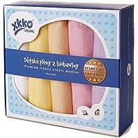 xkko trapos para bebé muselina de 70 x 70 cm Bio-Algodón 5er-juego de pastel Diseño de chica