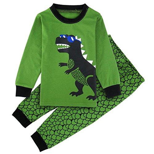 Mombebe Baby Junge Dinosaurier Schlafanzug Set Pyjama (Dinosaurier, 18-24 Monate) (Pjs Hose Nachtwäsche)