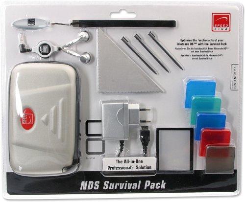 Speedlink Starter Kit 12-In-1 für Nintendo DS (Tasche, Touch Pens, Ladegerät, Schutzfolie, Spielhüllen, Kopfhörer uvm.)